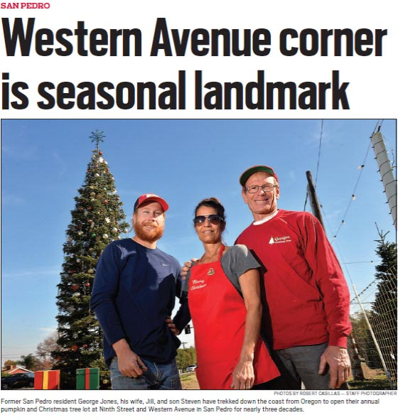 George's Christmas Tree Lot featured in San Pedro Daily Breeze article